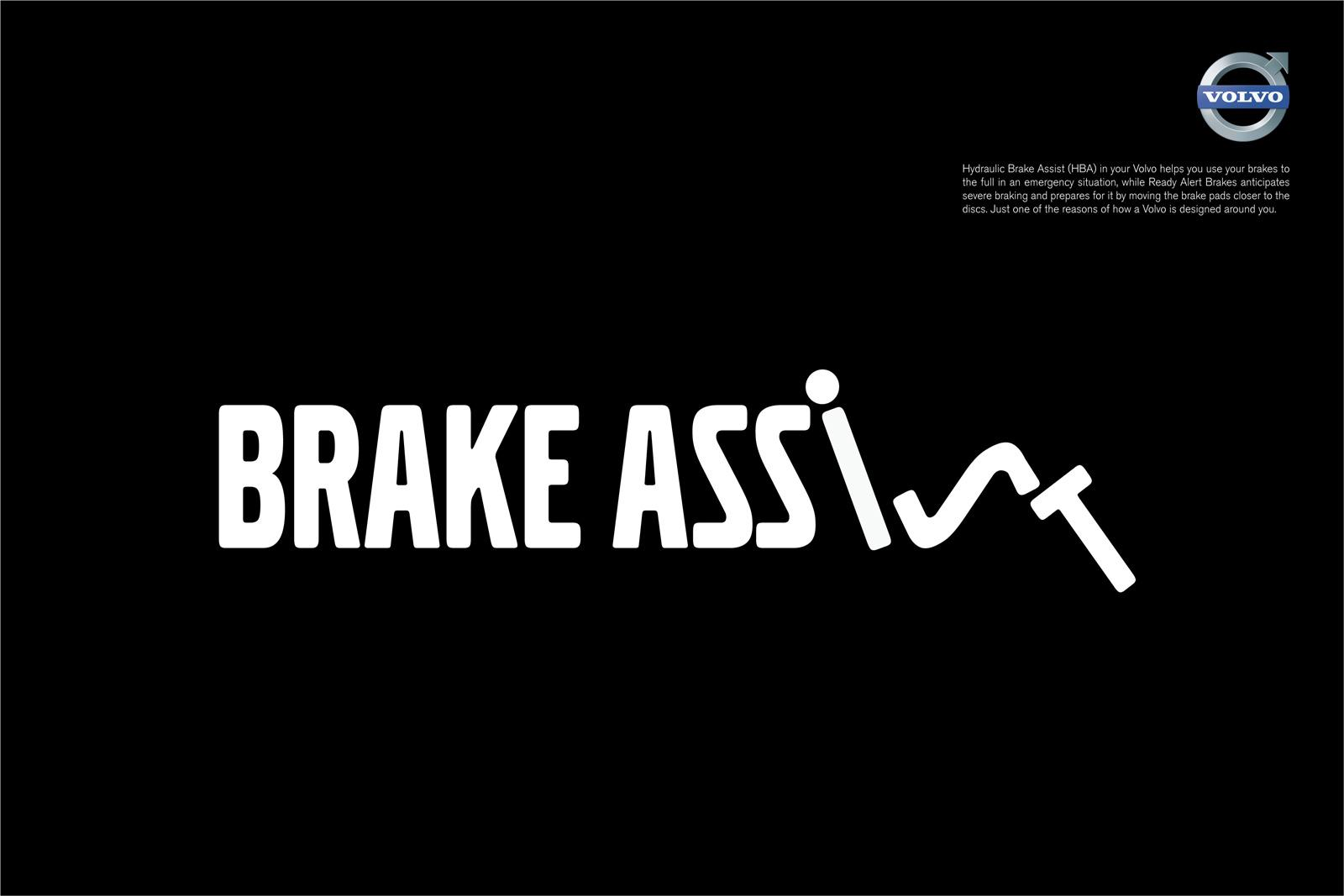 Volvo Print Ad -  Safety Features, Brake assist