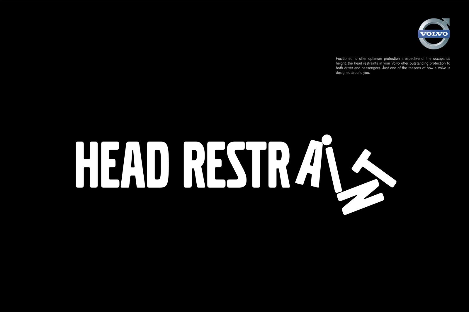 Volvo Print Ad -  Safety Features, Head restraint