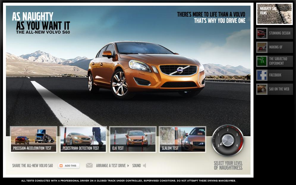 Volvo Digital Ad -  Naughty Driving Techniques