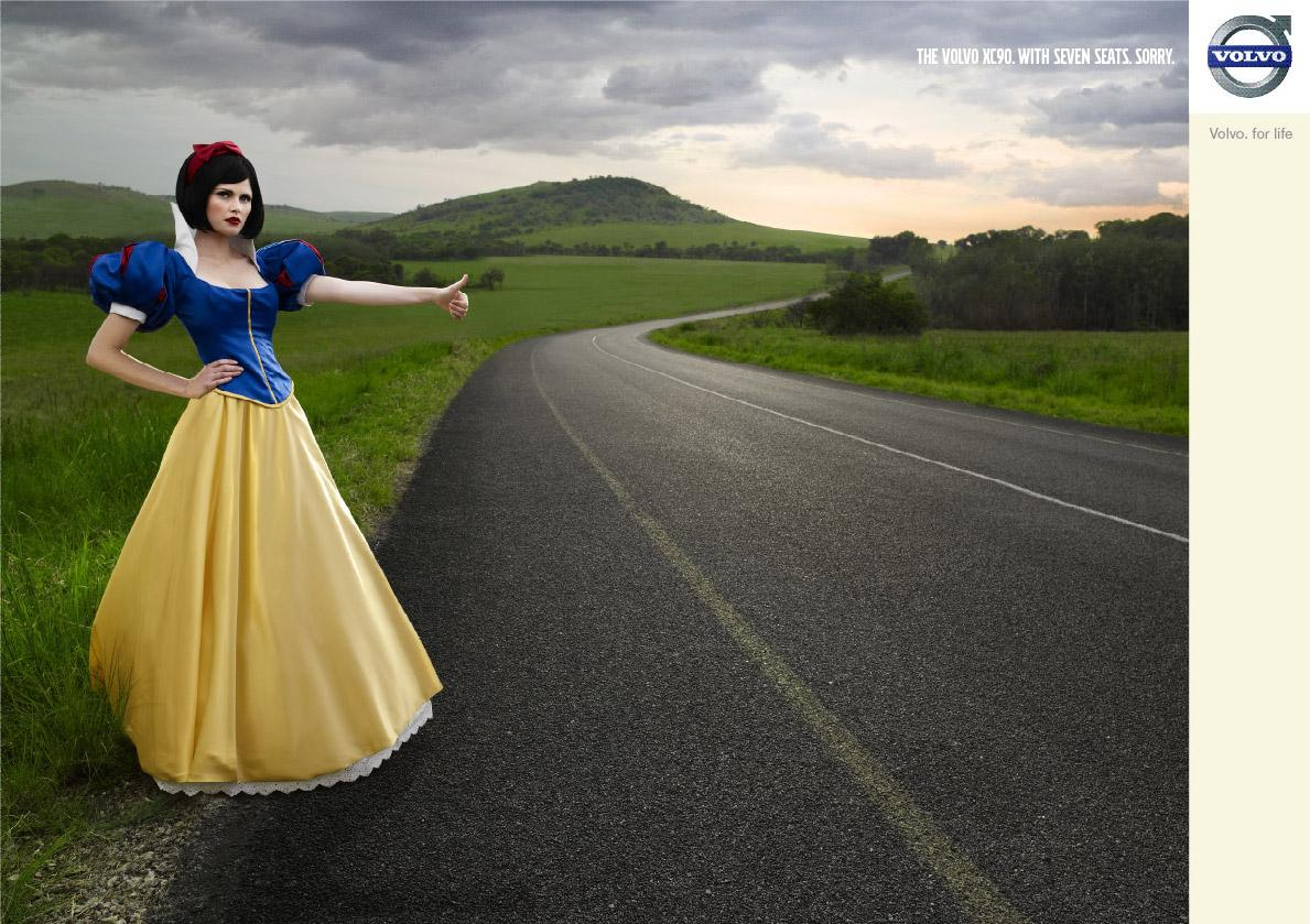 Volvo Print Ad -  Snow White