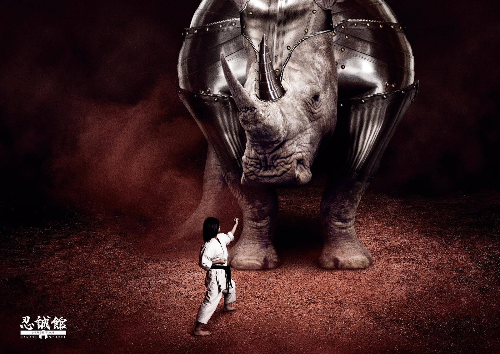 Ninseikan Print Ad -  vs Rhinoceros