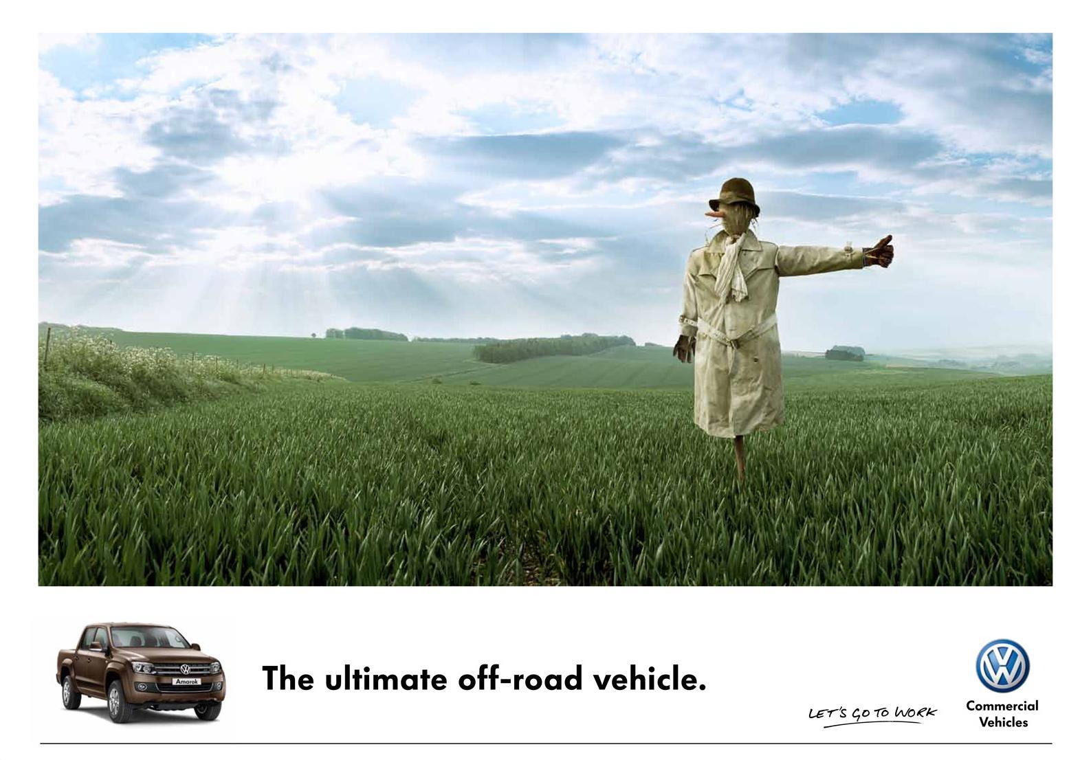 Volkswagen Print Ad -  Scarecrow