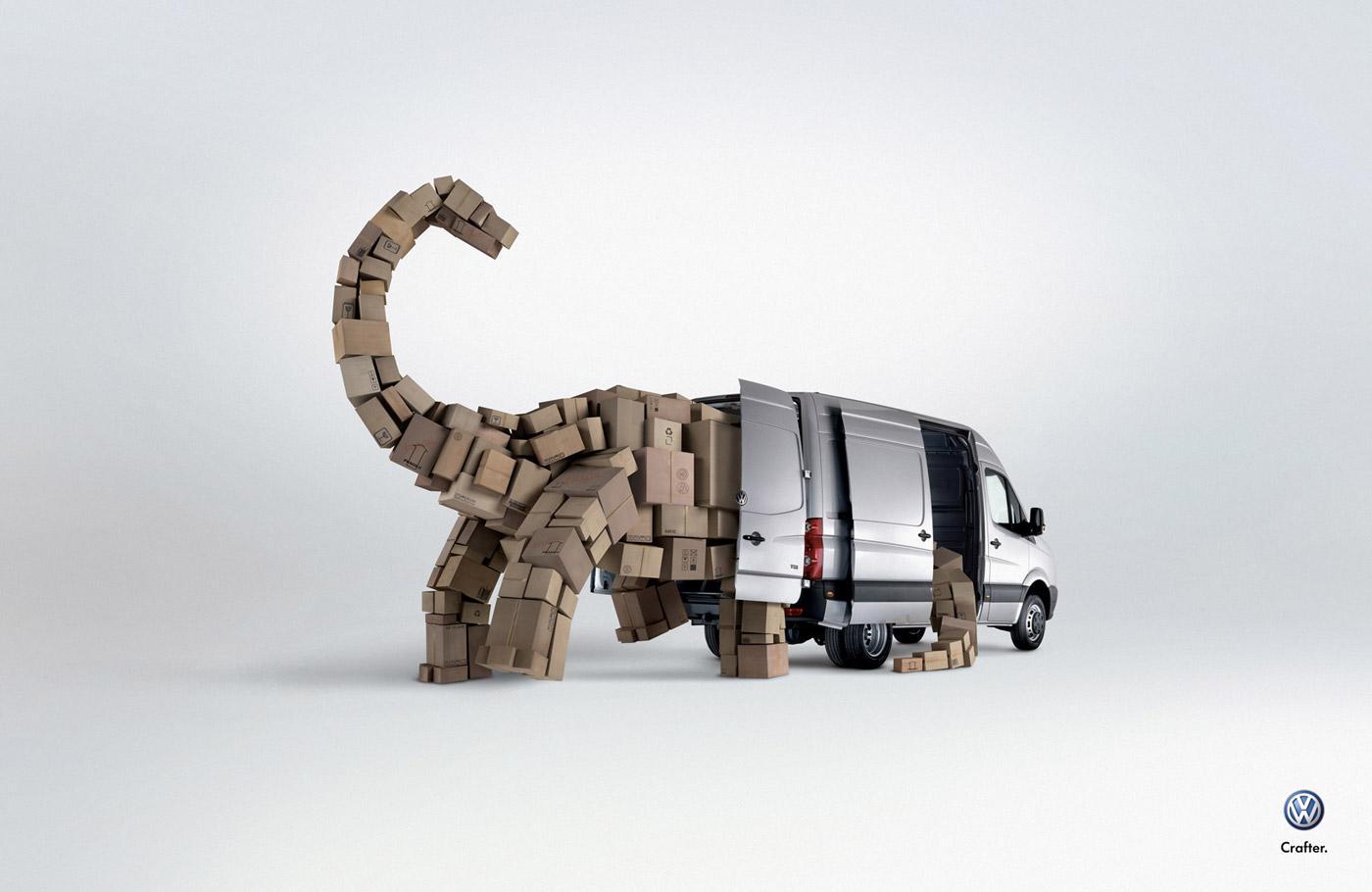 Volkswagen Print Ad -  Dinosaur