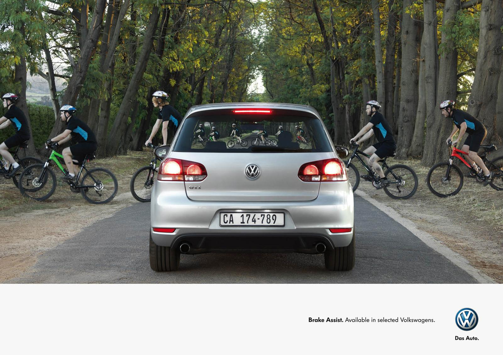 Volkswagen Print Ad -  Cyclists