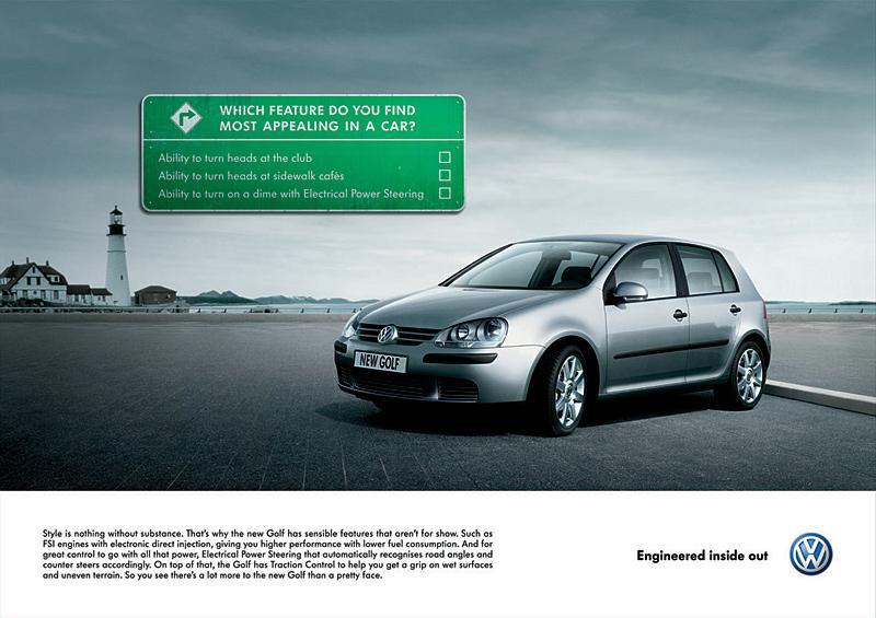Volkswagen Print Ad -  Golf signs