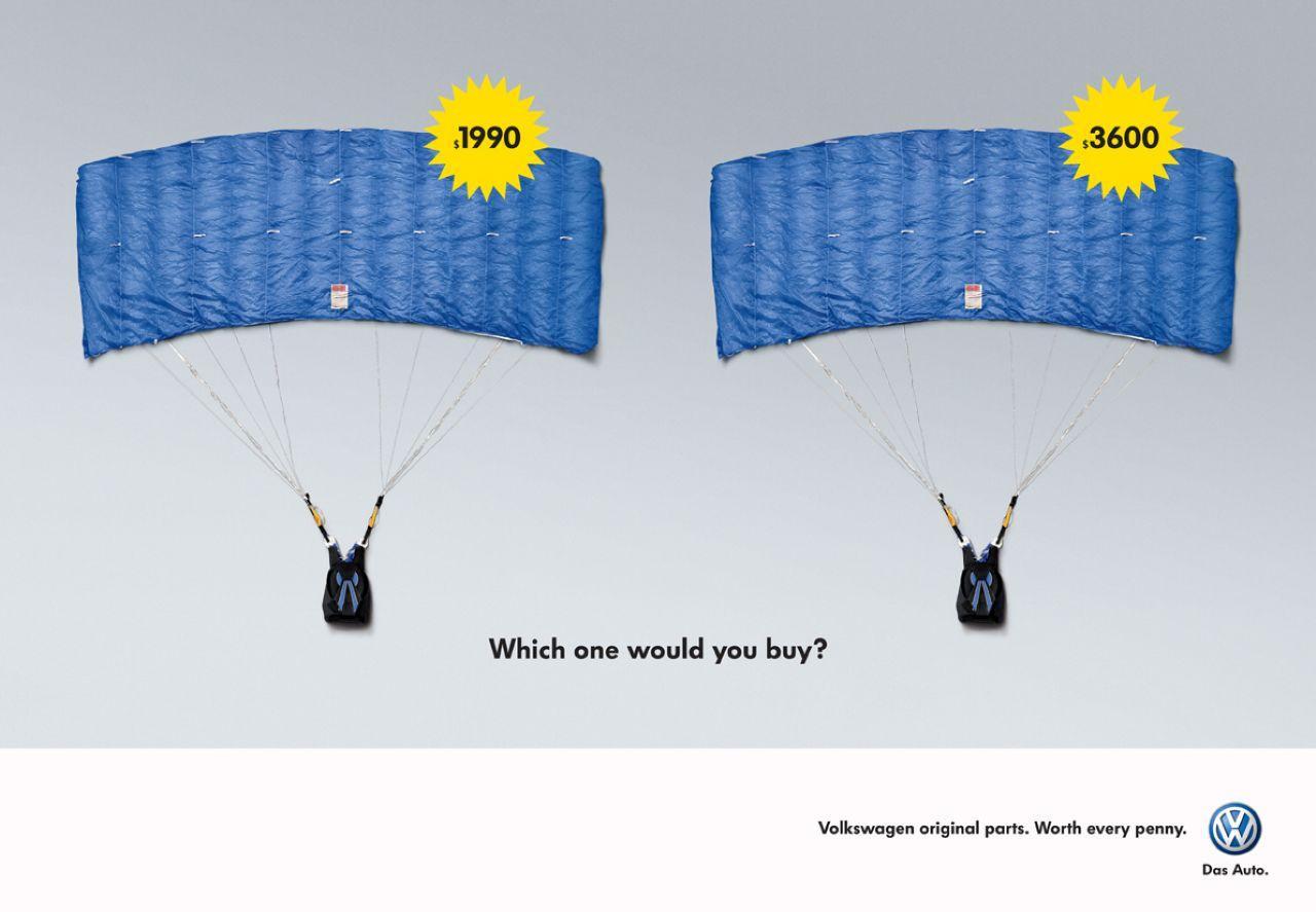 Volkswagen Print Ad -  Parachute