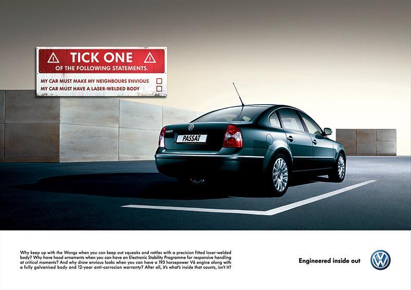Volkswagen Print Ad -  Passat signs