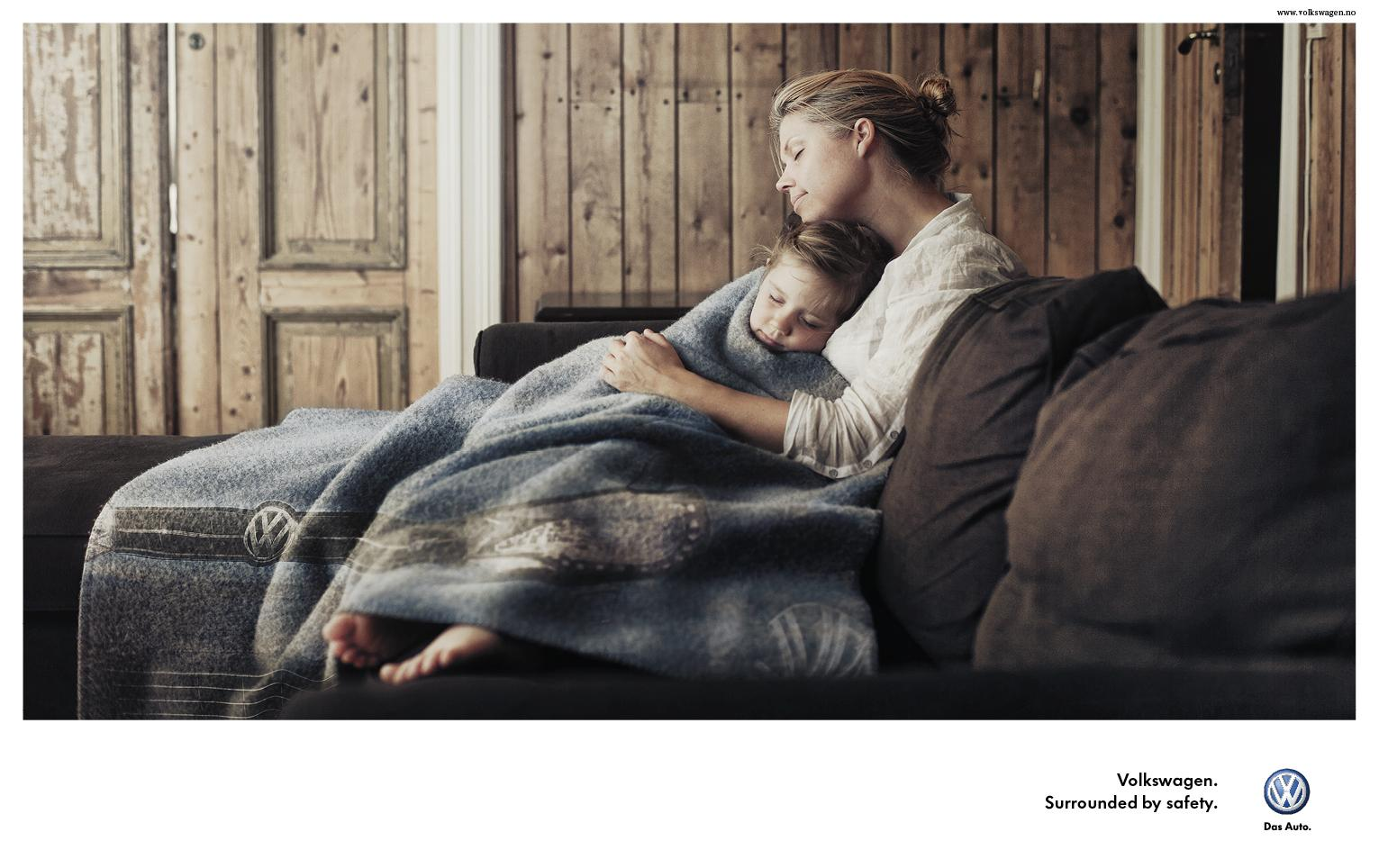 Volkswagen Print Ad -  Surrounded by safety, 1
