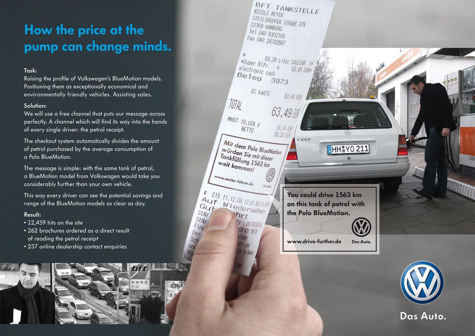 Volkswagen Direct Ad -  Receipt
