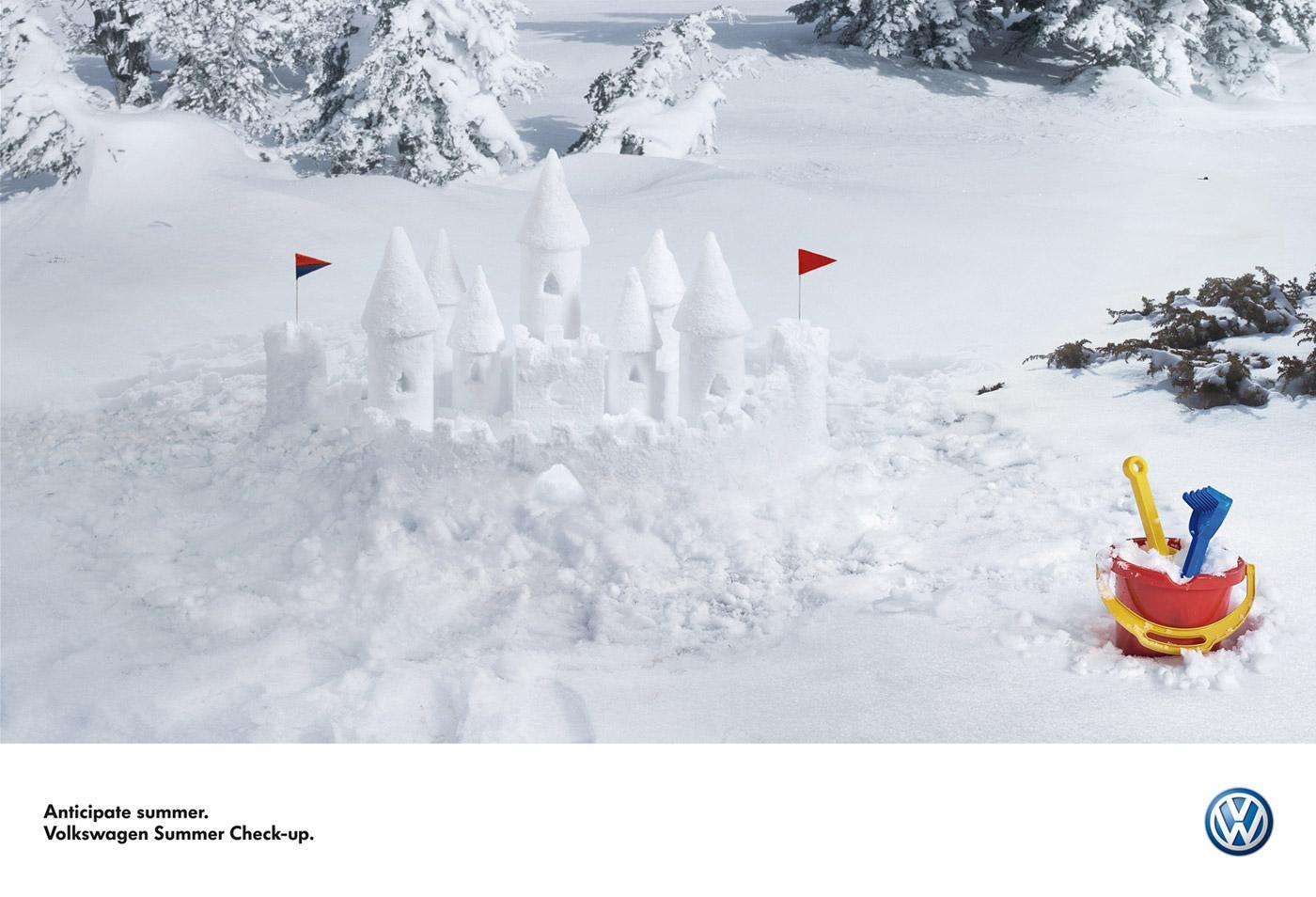 Volkswagen Print Ad -  Snow castle