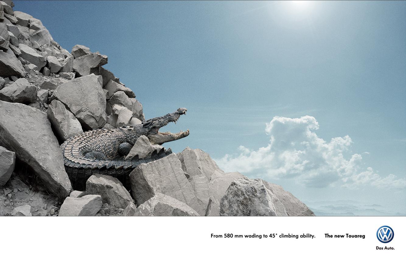Volkswagen Print Ad -  Crocodile