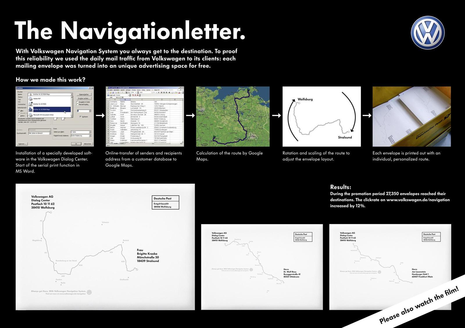 Volkswagen Direct Ad -  The Navigationletter