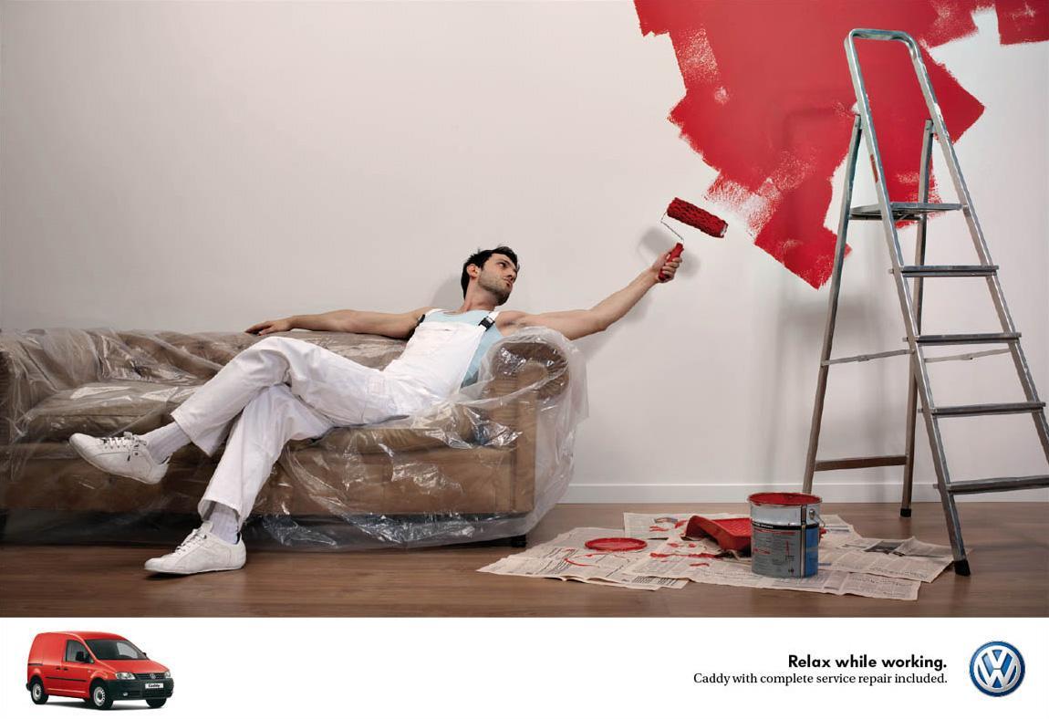 Volkswagen Print Ad -  Painter