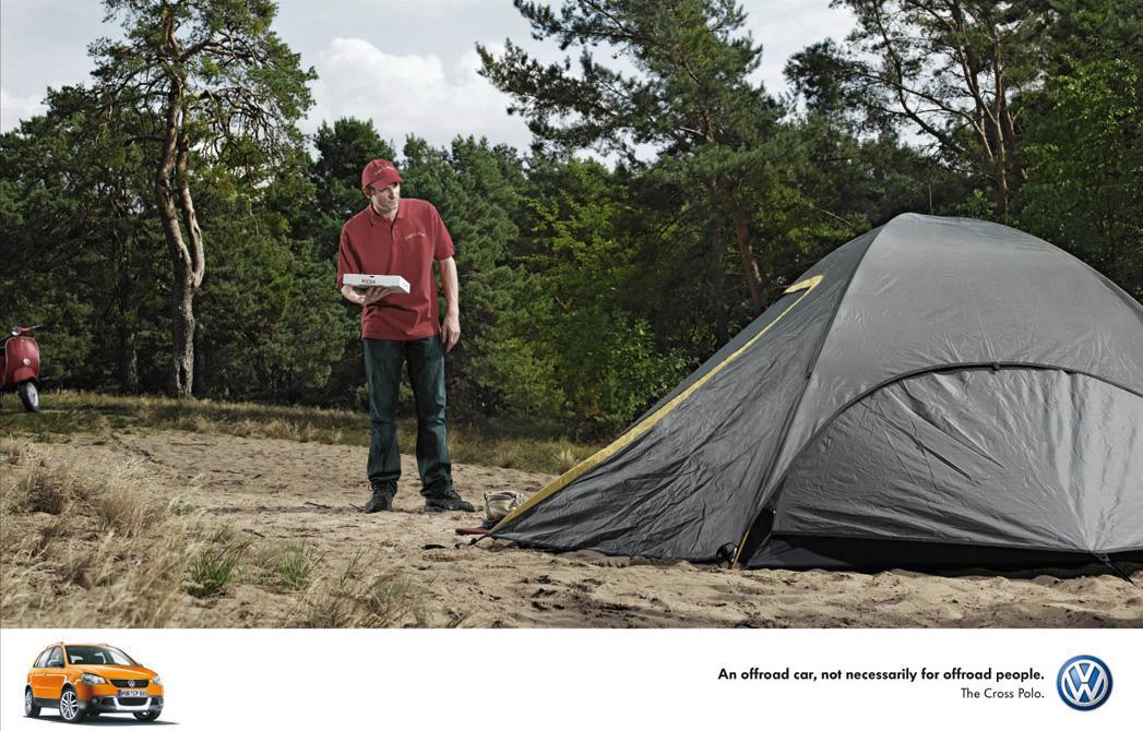 Volkswagen Print Ad -  Pizza