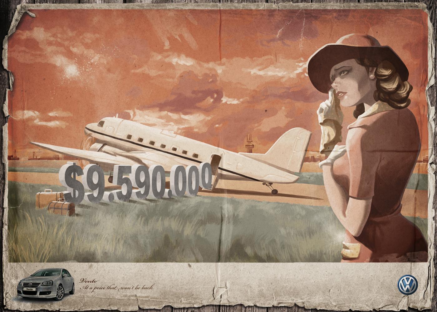 Volkswagen Print Ad -  Plane
