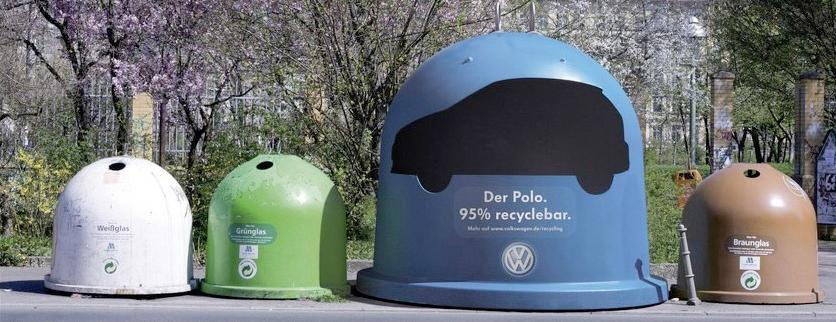 Volkswagen Ambient Ad -  Polo 95% recyclable