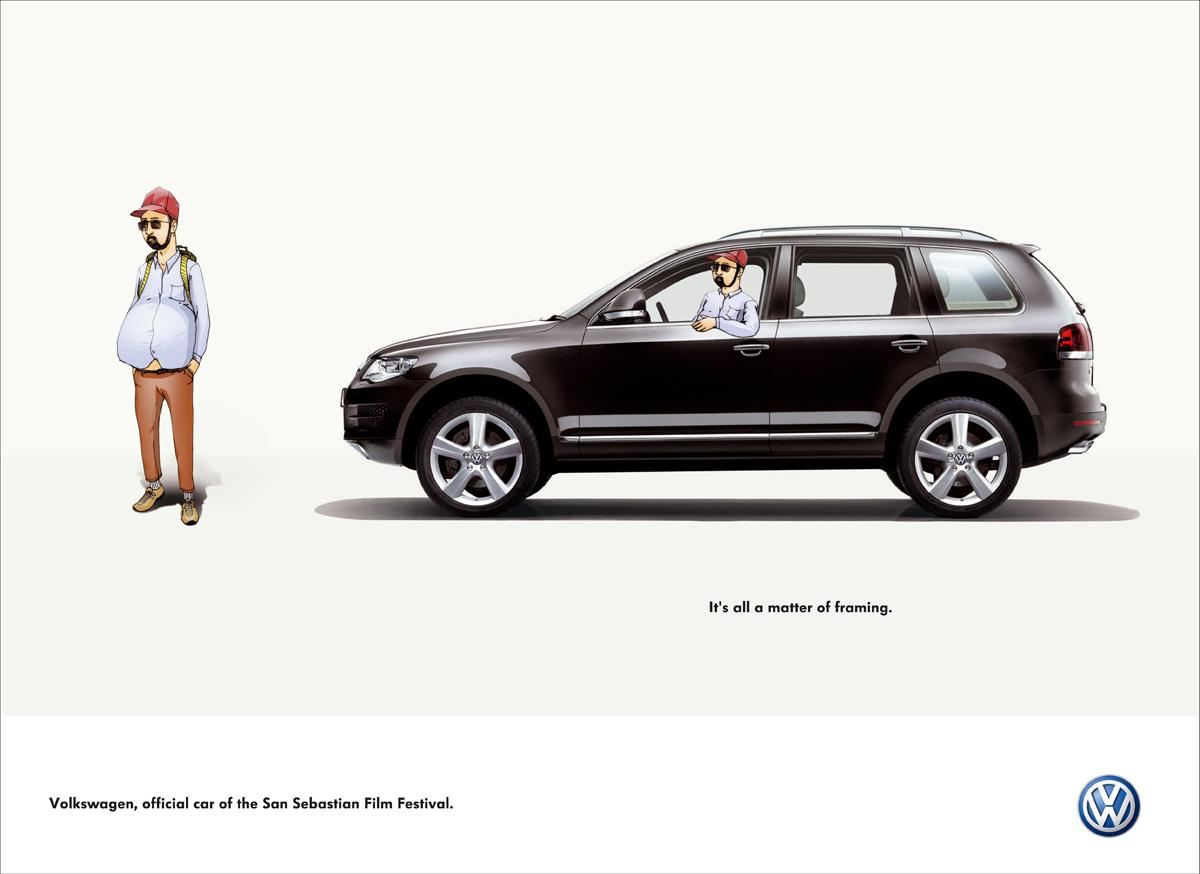 Volkswagen Print Advert By DDB: Framing, 3 | Ads of the World™