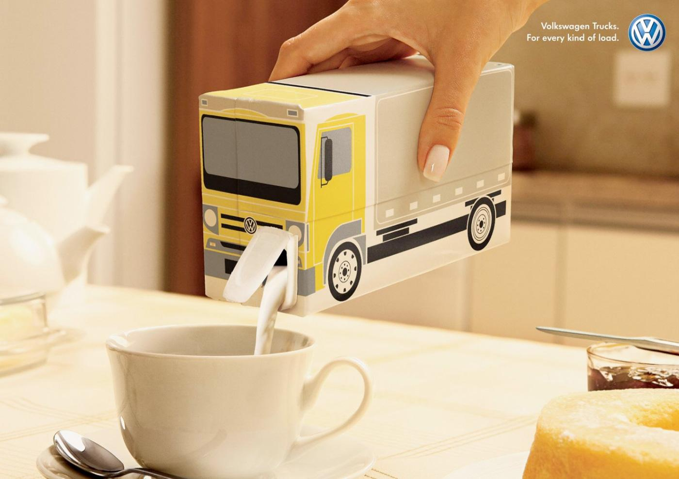 Volkswagen Outdoor Ad -  Milk
