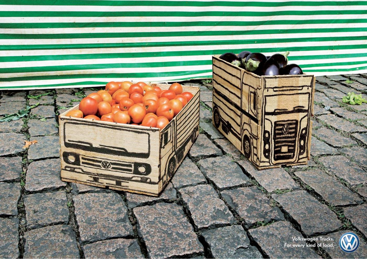 Volkswagen Outdoor Ad -  Vegetables