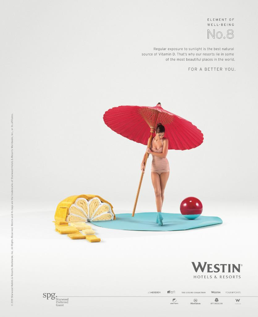 Westin Hotels Print Ad -  Element of well-being No.8