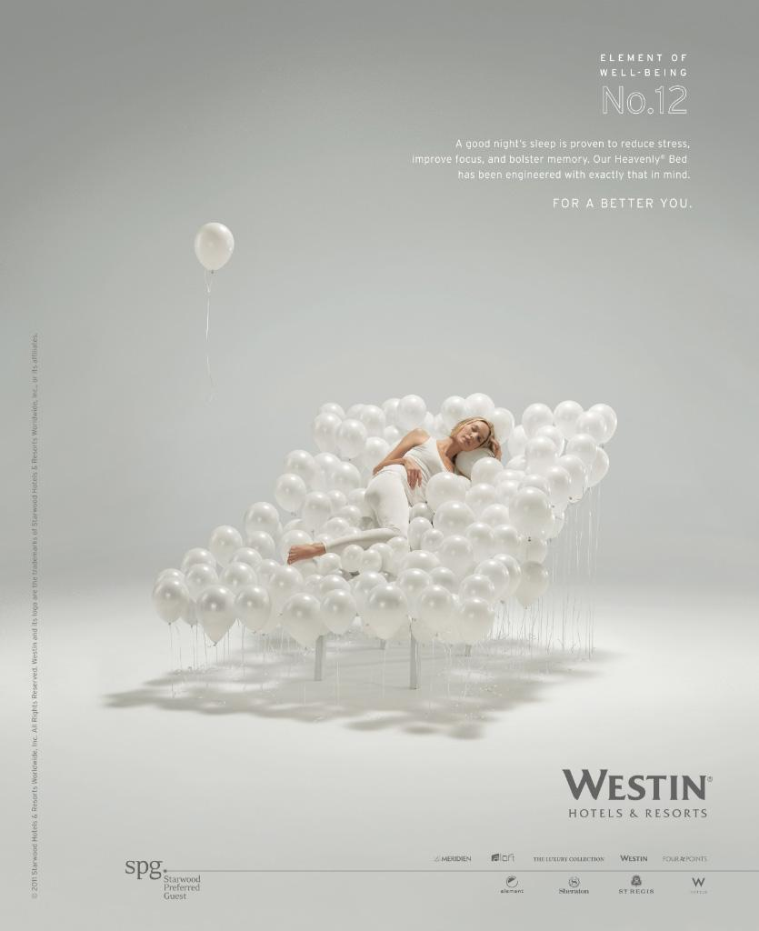 Westin Hotels Print Ad -  Element of well-being No.12