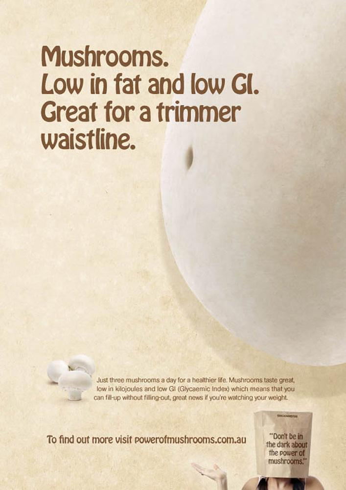 Australian Mushroom Growers Association Print Ad -  Waistline