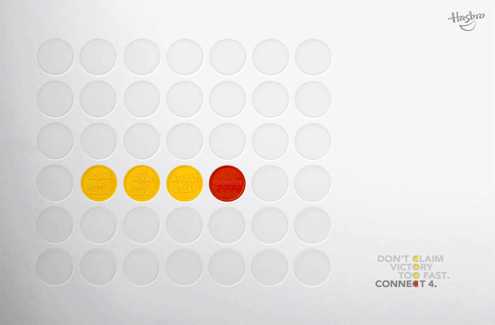 Connect 4 Print Ad -  Walking