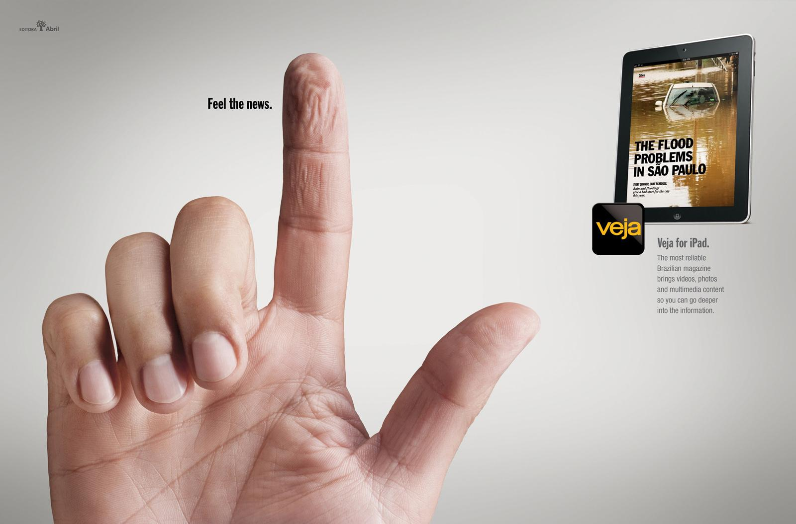 Veja Print Ad -  Fingers, Water