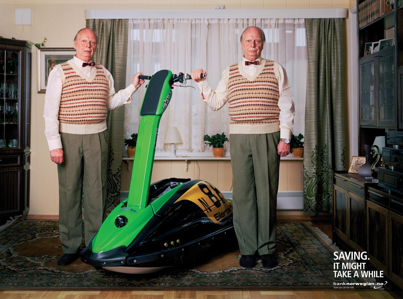 Bank Norwegian Print Ad -  Waterjet