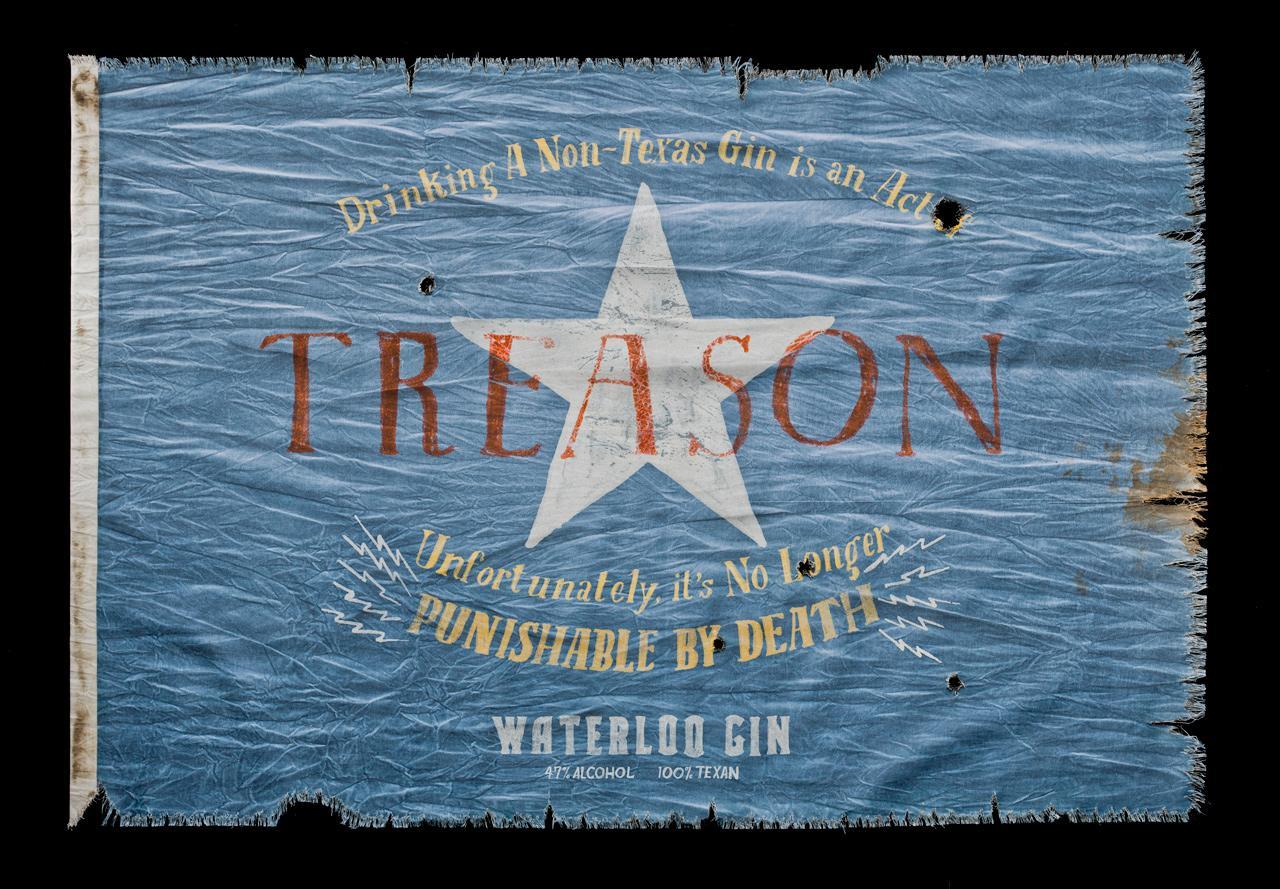 Waterloo Gin Print Ad -  Treason