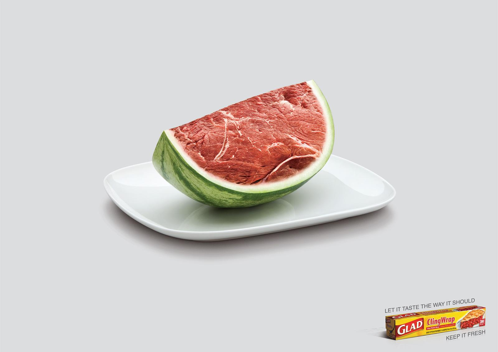 Glad Print Ad -  Watermelon