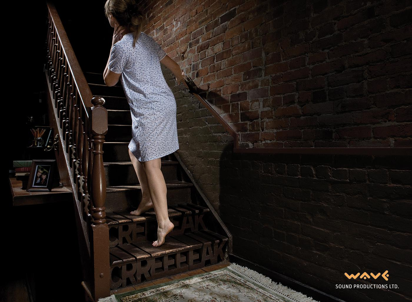 Wave Sound Productions Print Ad -  Stairs