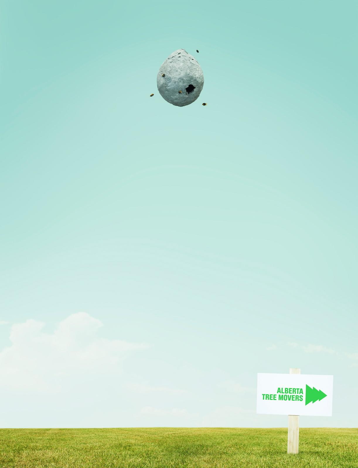Alberta Tree Movers Print Ad -  Beehive