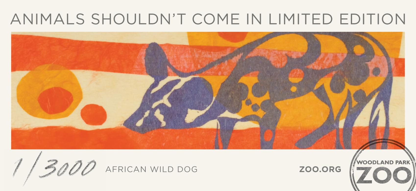 Woodland Park Zoo Print Ad -  African Wild Dog