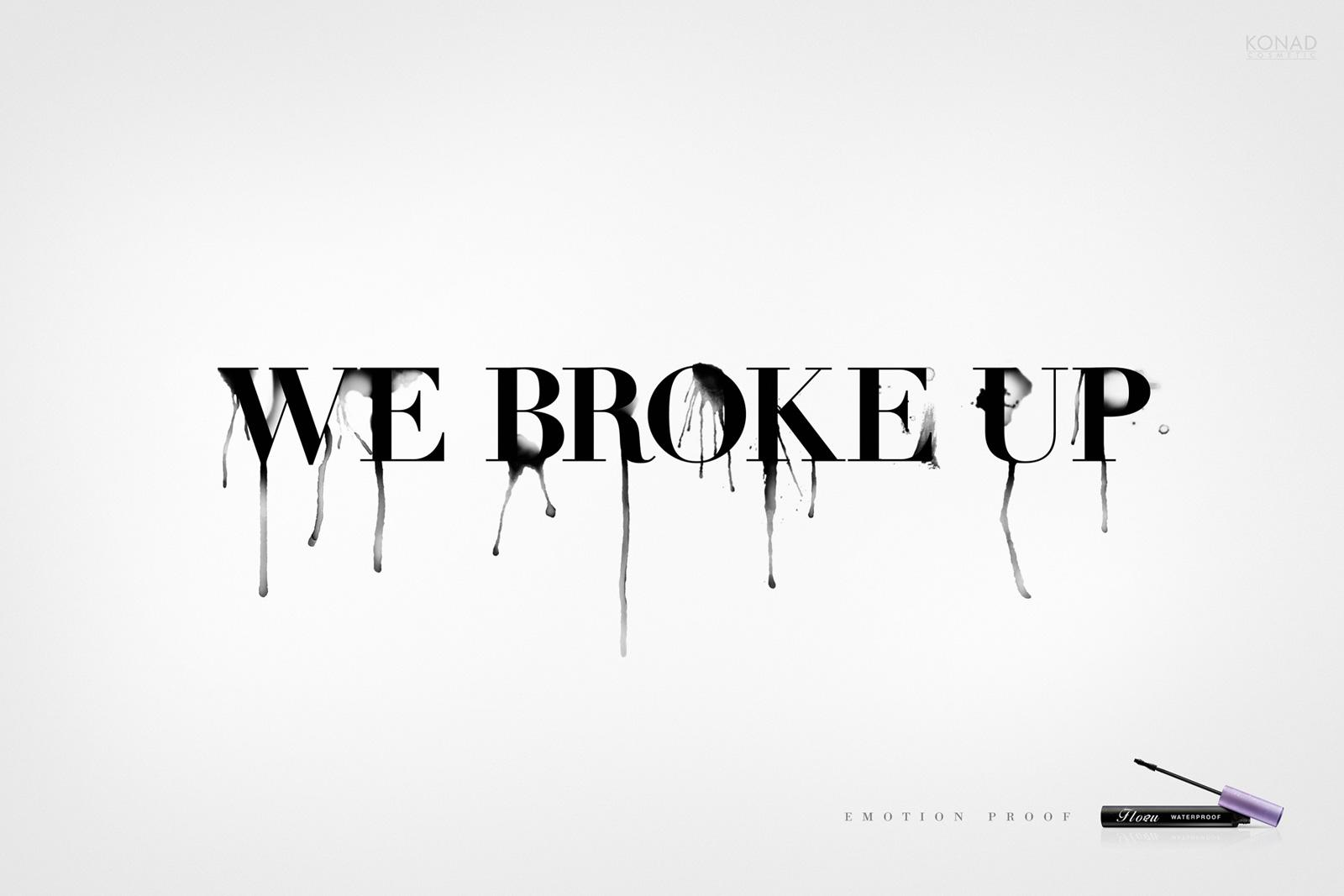 Flobu Print Ad -  We broke up