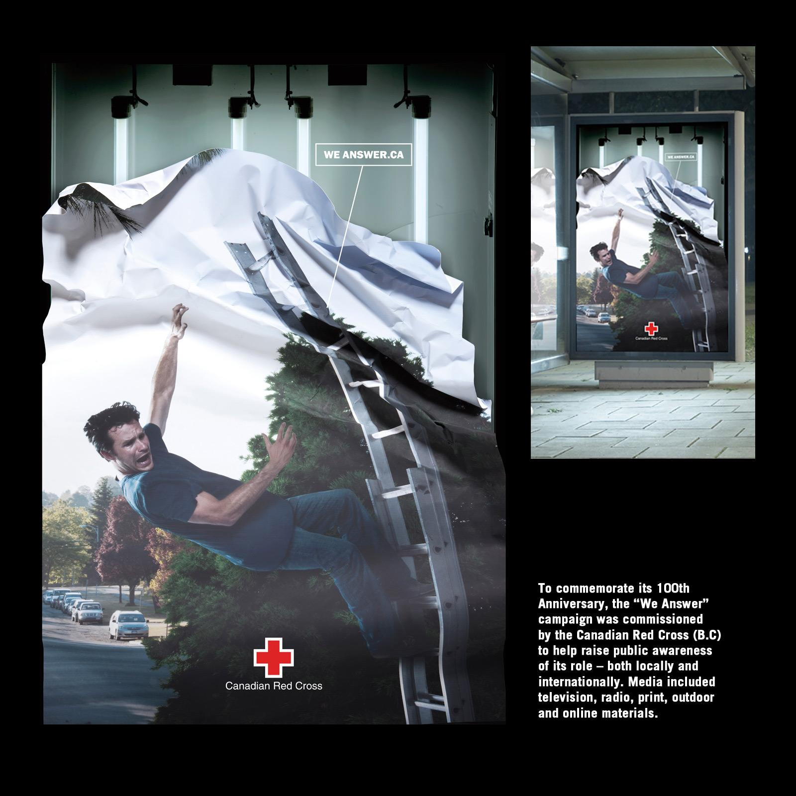Red Cross Outdoor Ad -  We answer, 3