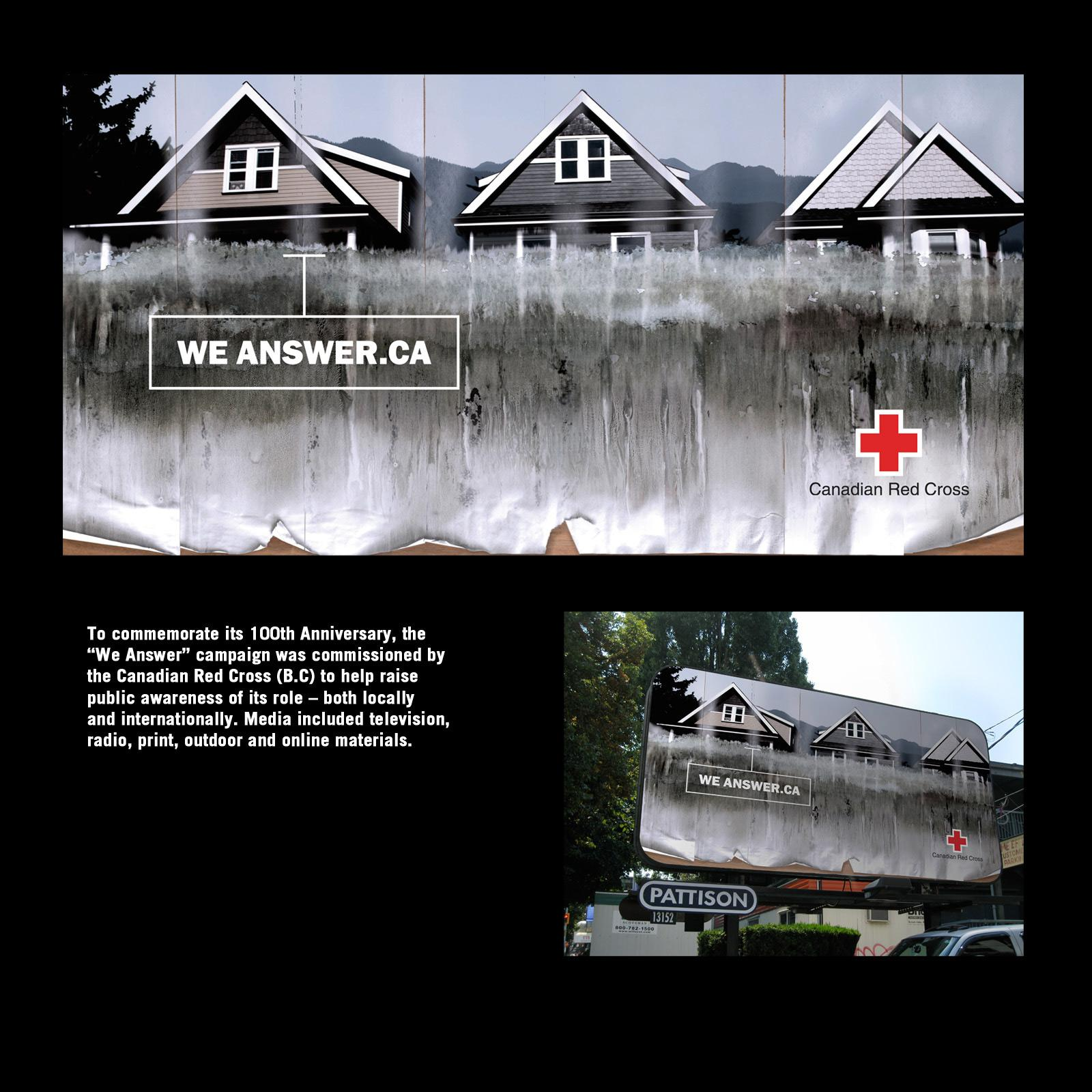 Red Cross Outdoor Ad -  We answer, 1