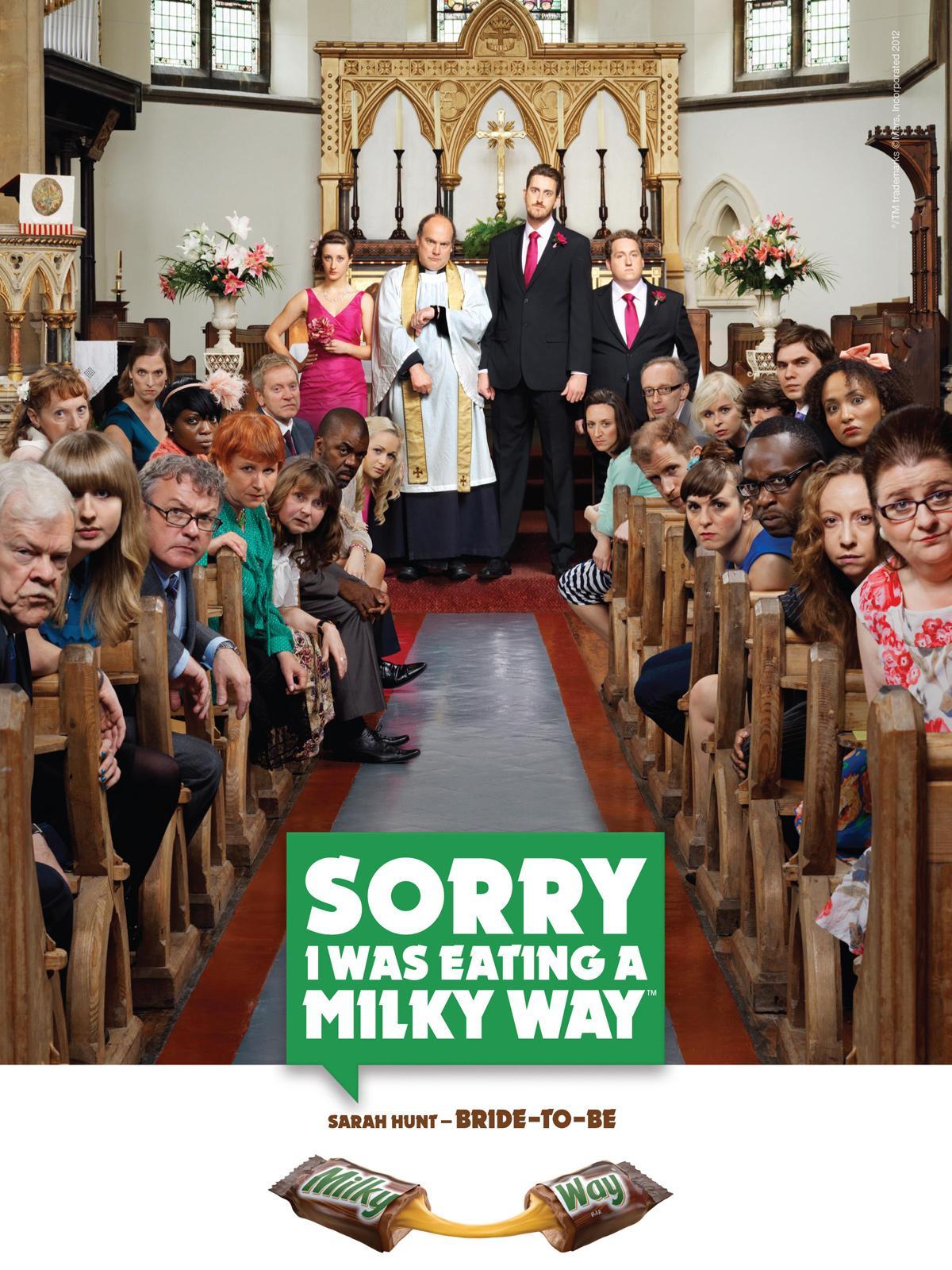 Milky Way Print Ad -  Wedding