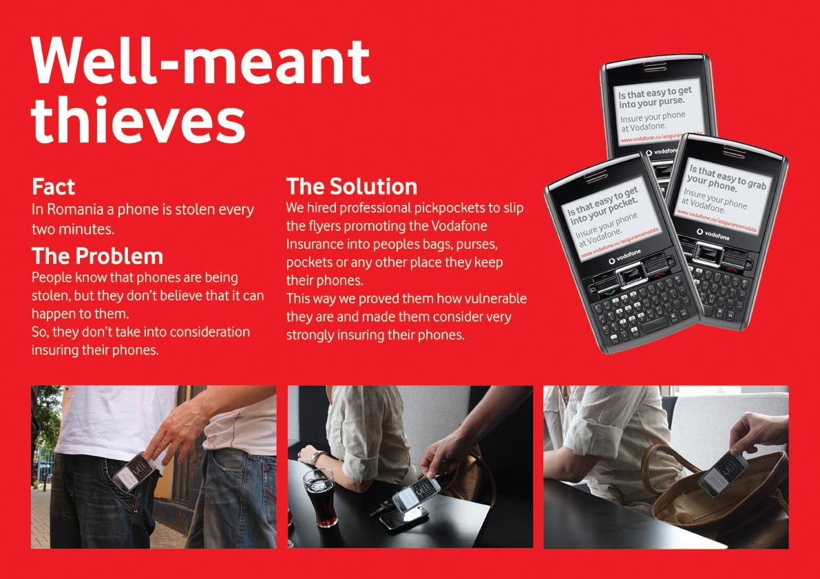 Vodafone Ambient Ad -  Well-meant Thieves