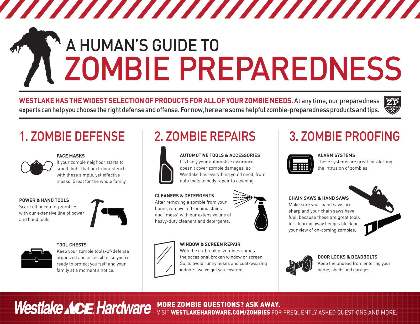 Westlake Hardware Direct Ad -  Zombie Preparedness, For Humans