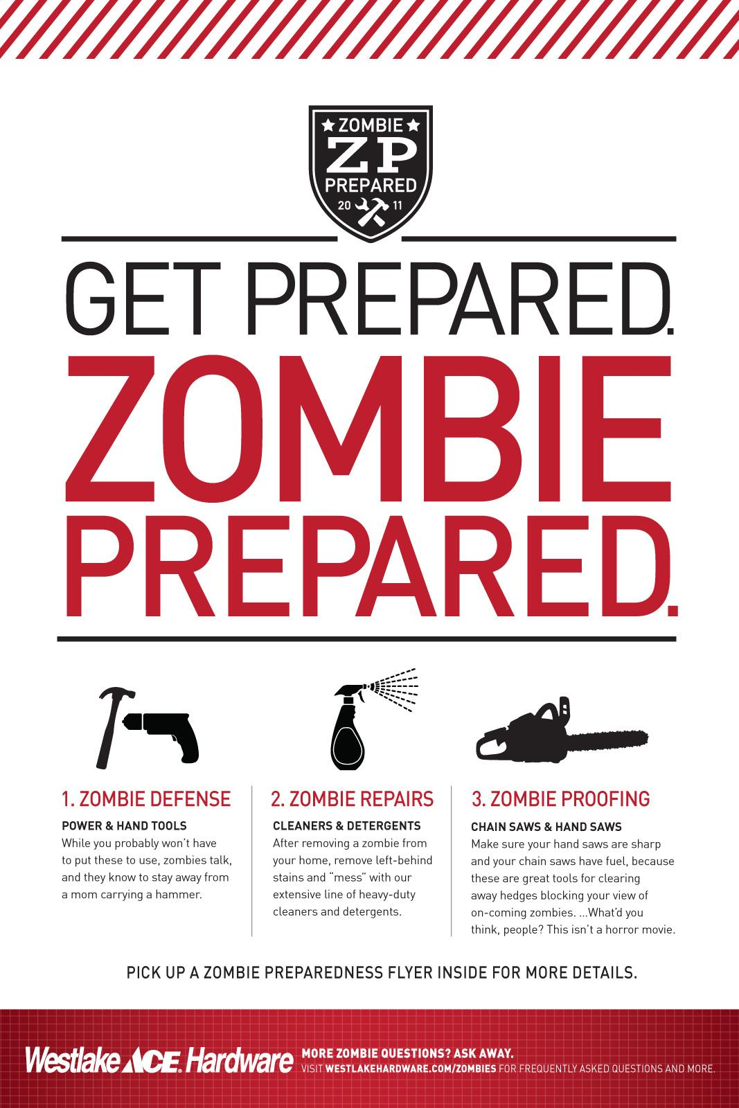 Westlake Hardware Outdoor Ad -  Zombie Preparedness, For Humans
