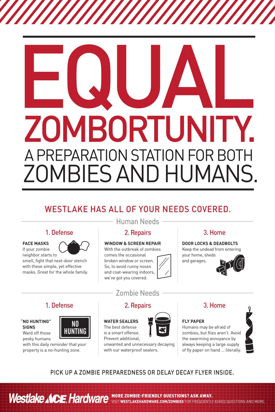 Westlake Hardware Outdoor Ad -  Zombie Preparedness, For Zombies