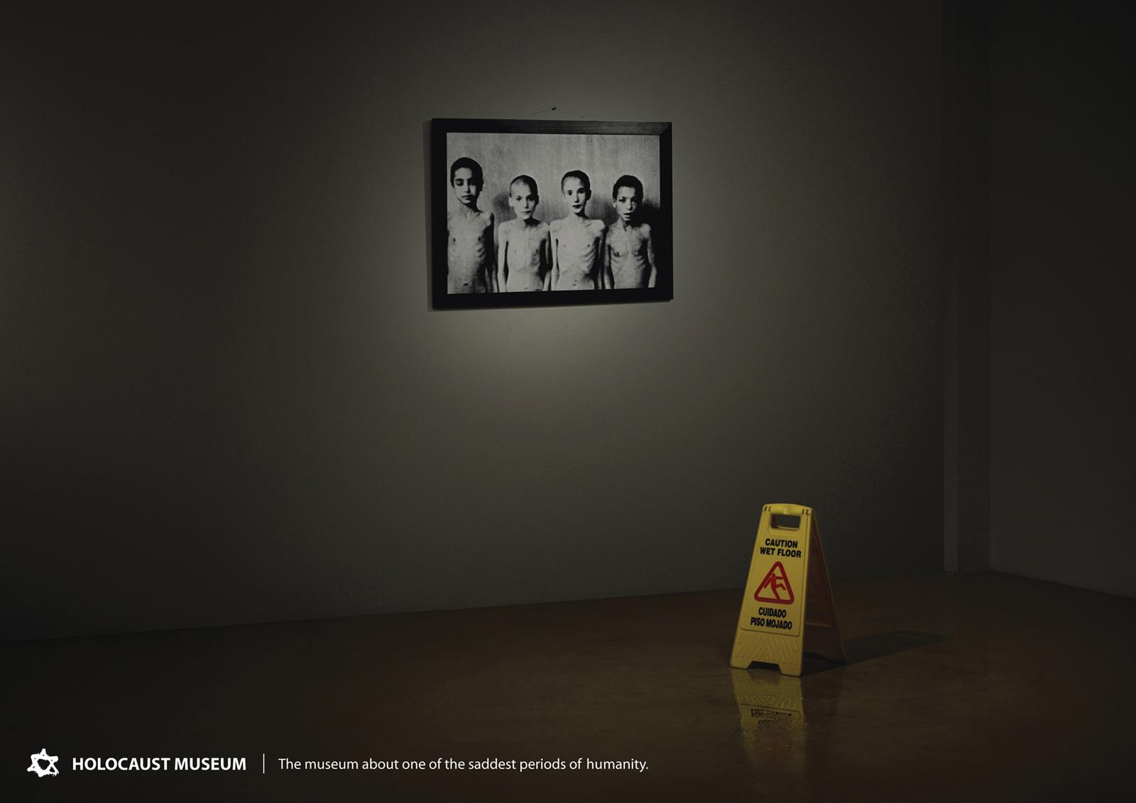Holocaust Museum Print Ad -  Wet floor