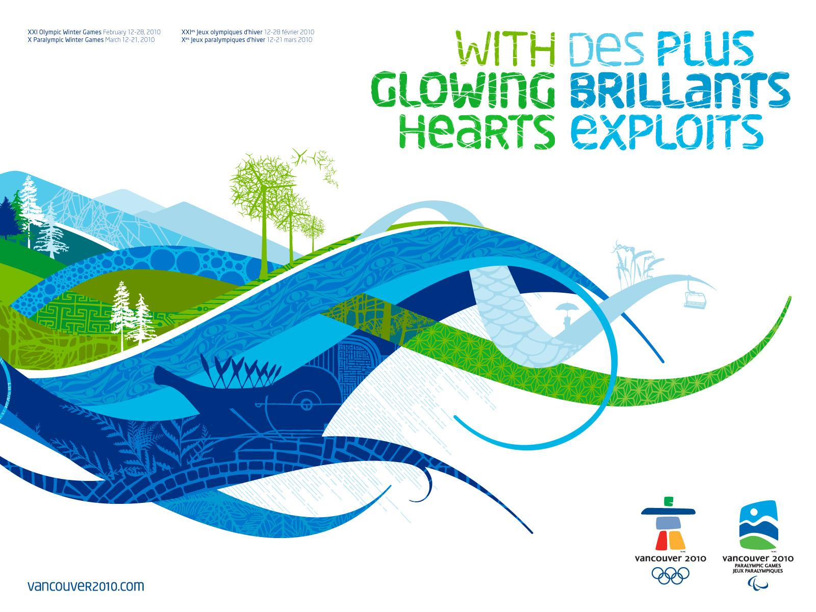 Vancouver 2010 Print Ad -  With Glowing Hearts