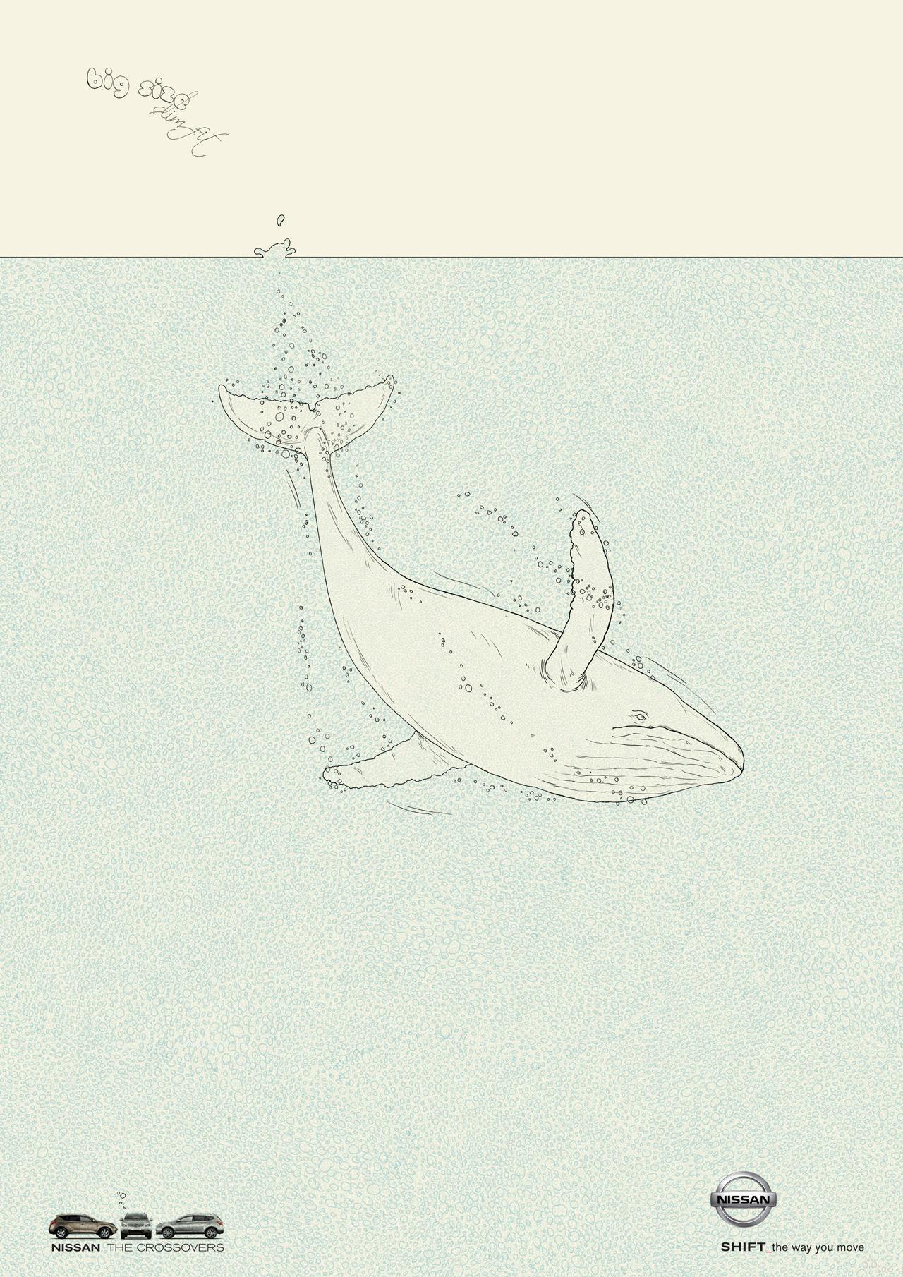 Nissan Print Ad -  Whale