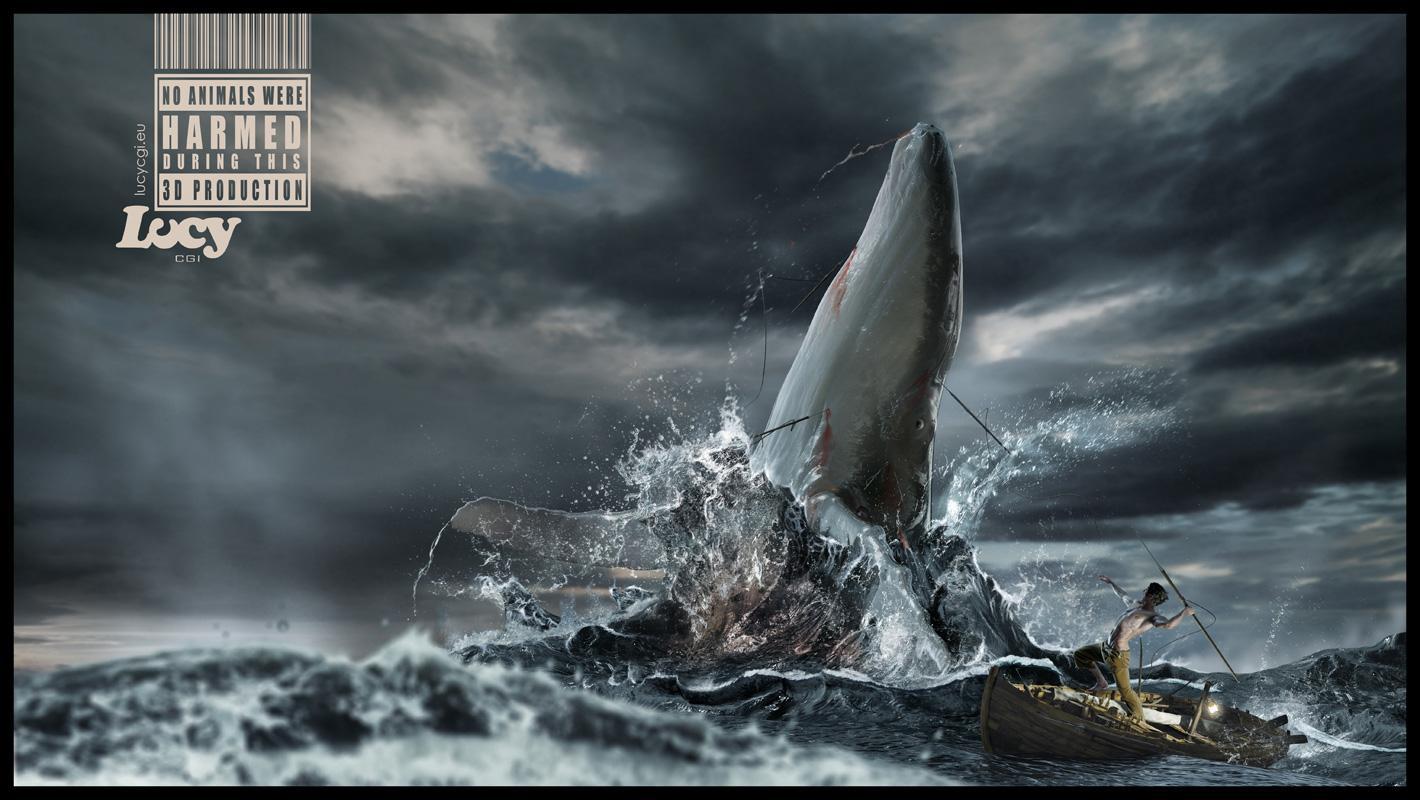 Lucy CGI Print Ad -  Whale