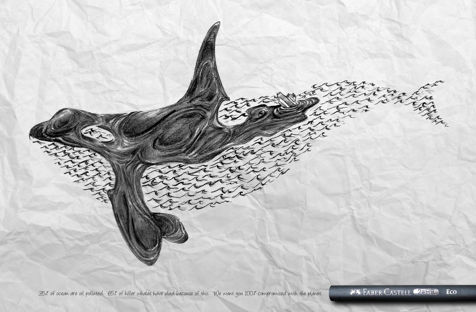 Faber-Castell Print Ad -  Whale