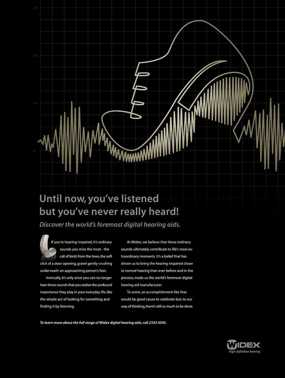Widex Print Ad -  Footsteps