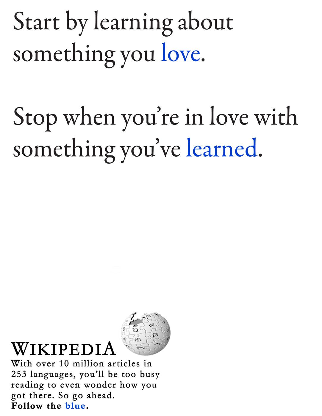 Wikipedia Print Ad -  Love