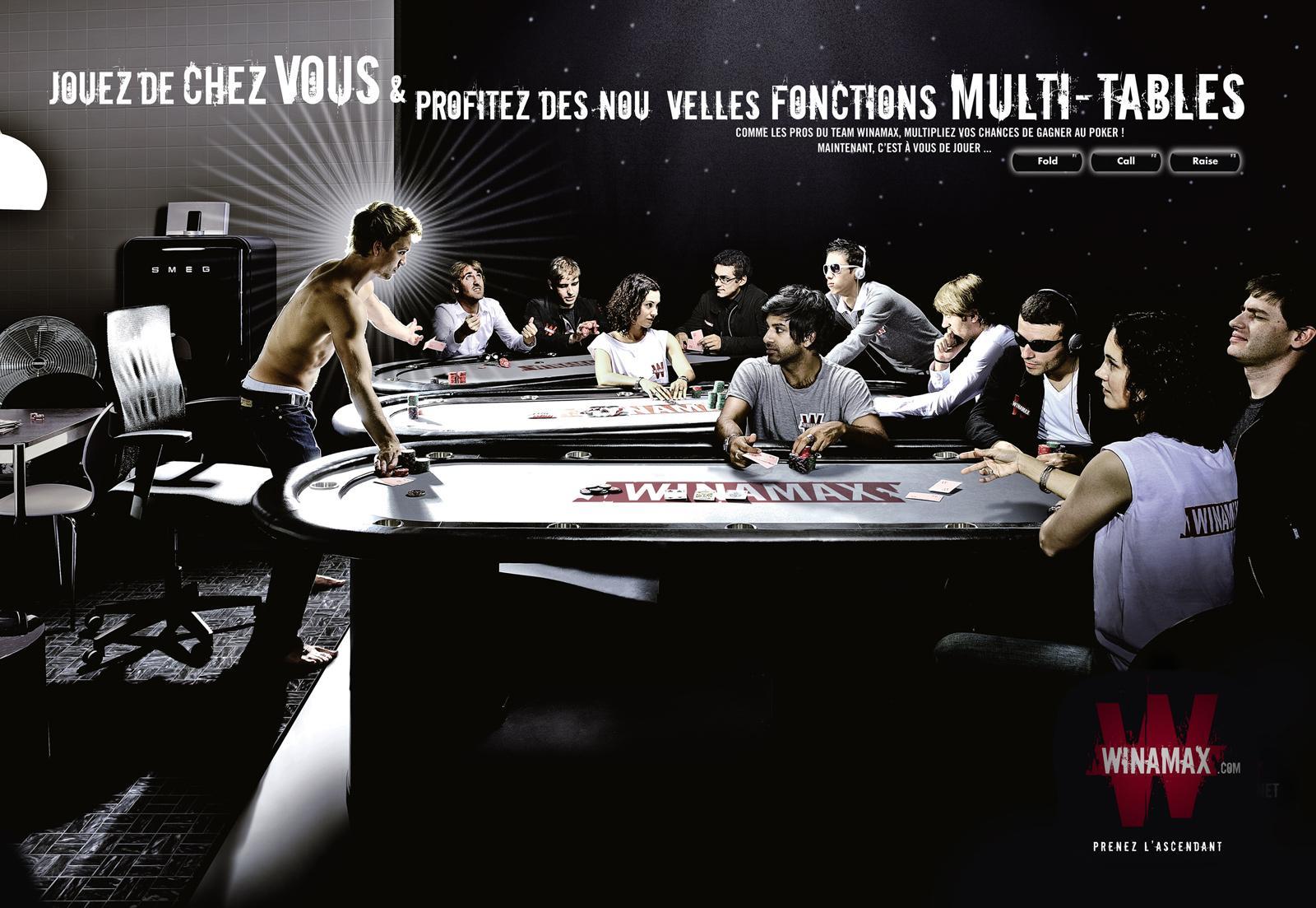 Winamax Print Ad -  Multitable
